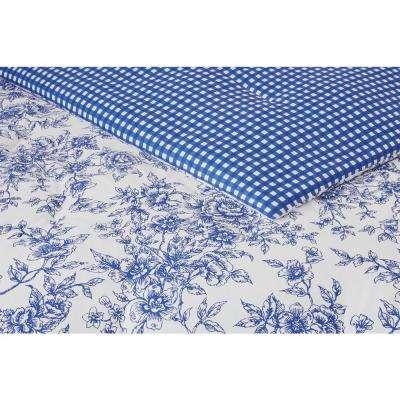 Livia 3-Piece Reversible Charcoal Toile Comforter Set