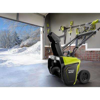 20 in. 40-Volt Brushless Cordless Electric Snow Blower - Two 5.0 Ah Batteries/Charger Included
