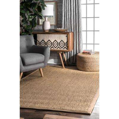 Cindy Natural Sisal Jute Sand 6 ft. x 9 ft.  Area Rug