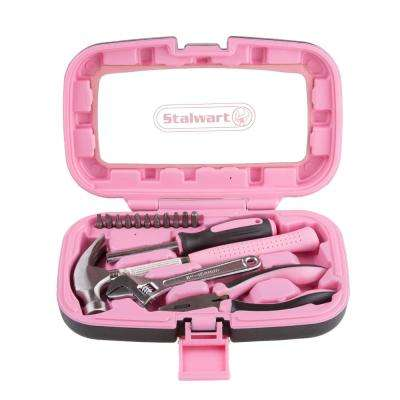 Household Pink Tool Kit (15-Piece)