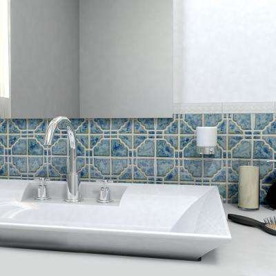 Moonbeam Pacific Blue 11-3/4 in. x 11-3/4 in. x 7 mm Porcelain Mosaic Tile