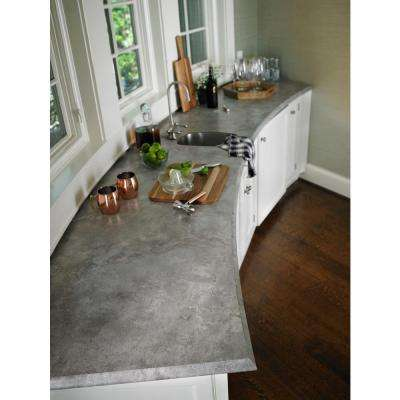 5 in. x 7 in. Laminate Countertop Sample in Weathered Cement with Premiumfx Scovato Finish