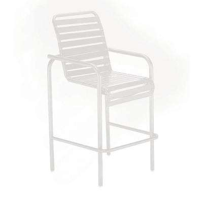 Milan White Commercial Patio Bar Stool