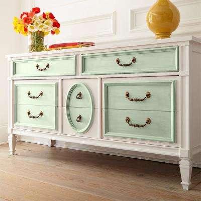 1 qt. #BCP22 Creme De Mint Interior Chalk Decorative Paint