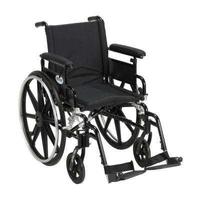 Viper Plus GT Wheelchair with Removable Flip Back Adjustable Arms, Adjustable Full Arms and Swing-Away Footrests
