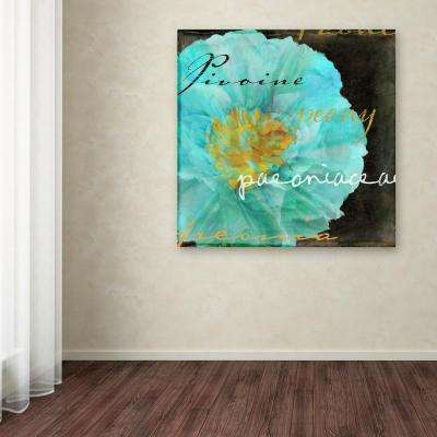 "24 in. x 24 in. ""Blue Peony Dark"" by Color Bakery Printed Canvas Wall Art"