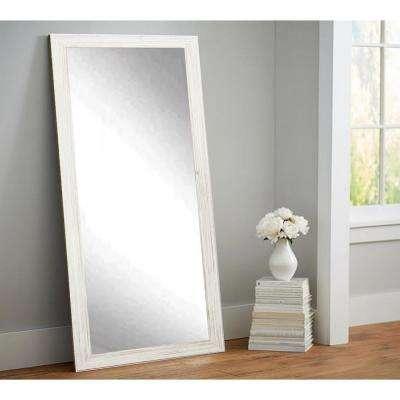 Coastal Whitewood Floor Framed Mirror