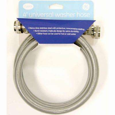 4 ft. Stainless Steel Universal Washer Hoses (2-Pack)