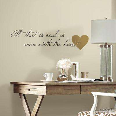 5 in. x 11.5 in. Heart Quote 10-Piece Peel and Stick Wall Decal