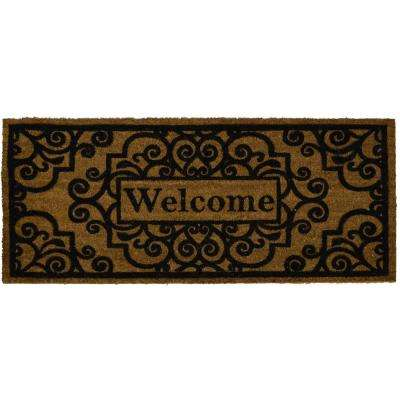 Fiesta Brown 20 in. x 46 in. Coir Outdoor Mat