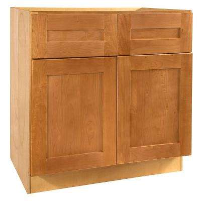 36x34.5x21 in. Hargrove Assembled Vanity Base Cabinet in Cinnamon