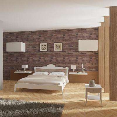 Zurich Chocolate Wood Peel and Stick 3D-Effect Self Adhesive DIY Wallpaper