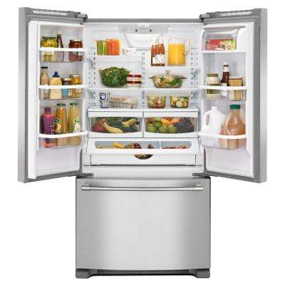 36 in. W 25.2 cu. ft. French Door Refrigerator in Fingerprint Resistant Stainless Steel