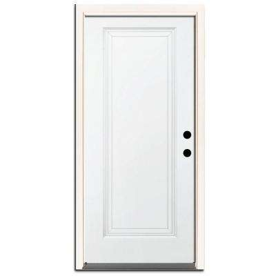 Premium 1 Panel Primed Steel Prehung Front Door