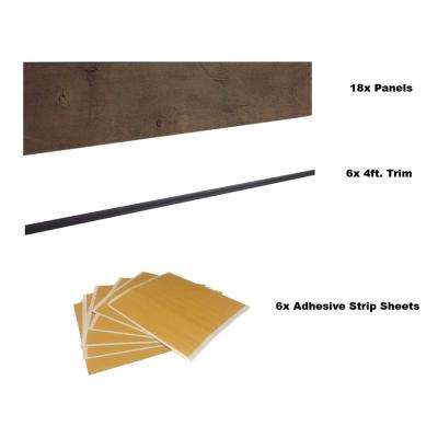 Element 36 sq. ft. Brown Resin Paneling (Bundle Pack)