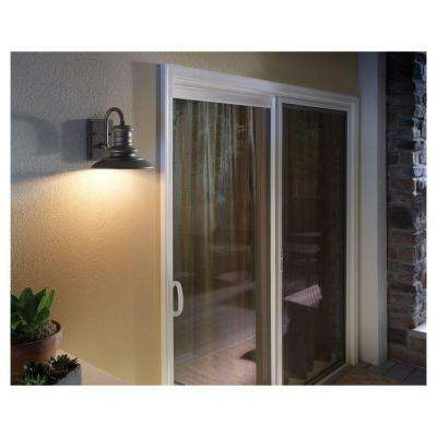 Redding Station 1-Light Tarnished Silver Outdoor 12.5 in. Wall Lantern Sconce