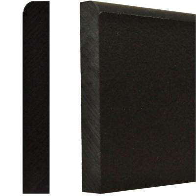 5/8 in. x 4 in. x 8 ft. Black Plastic Base Durobase Moulding