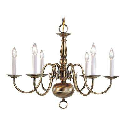Providence 6-Light Brushed Nickel Chandelier