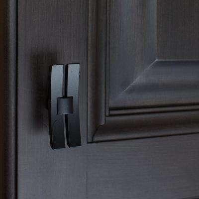 1-7/8 in. Matte Black Industrial Dual Bar Cabinet Knob (10-Pack)