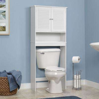 10 in. W x 61.8 in. H x 26 in. D Space Saver in White