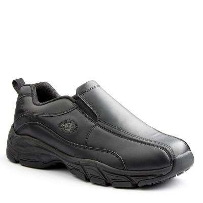 Athletic Slip-On Men Black Slip Resistant Safety Work Shoe