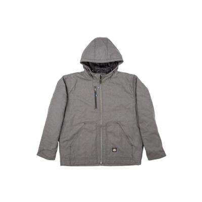 Men's Cotton and Polyester Washed Hooded Work Coat