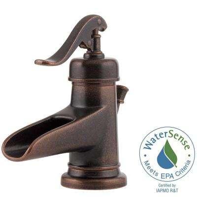 Ashfield 4 in. Centerset Single-Handle Bathroom Faucet in Rustic Bronze