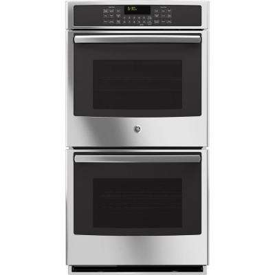27 in. Double Electric Wall Oven Self-Cleaning with Steam Plus Convection in Stainless Steel