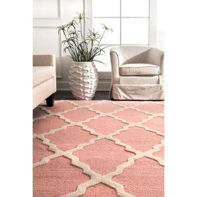 Marrakech Trellis Baby Pink 2 ft. 6 in. x 8 ft. Runner Rug