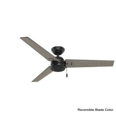 Cassius 52 in. Indoor/Outdoor Matte Black Ceiling Fan