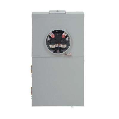 Type BR 200 Amp 12-Space 12-Circuit Combination Meter Breaker Main Lug and Distribution Panel
