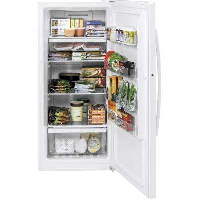 Garage Ready 14.1 cu. ft. Frost Free Upright Freezer in White, ENERGY STAR