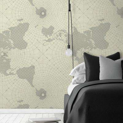 28.18 sq. ft. Maritime Maps Peel and Stick Wallpaper