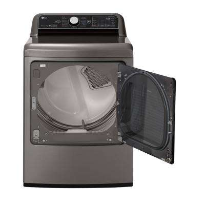 7.3 cu. ft. Graphite Steel Electric Dryer with EasyLoad and TurboSteam