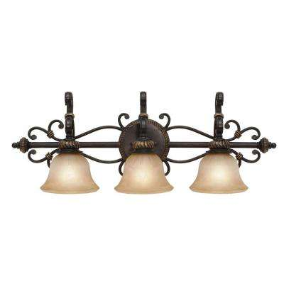 Florian Collection 3-Light Etruscan Bronze Bath Vanity Light