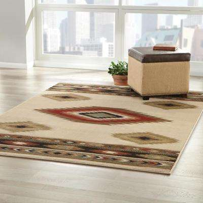 Aztec Ivory 8 ft. x 10 ft. Area Rug