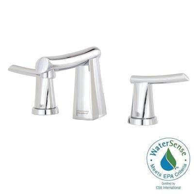 Green Tea 8 in. Widespread 2-Handle Mid-Arc Bathroom Faucet in Polished Chrome with Metal Speed Connect Pop-Up Drain