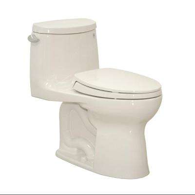 Ultramax II 1-Piece 1.28 GPF Single-Flush Elongated Toilet in Colonial White