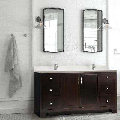 Ventura 60 in. W x 21 in. D Unassembled Vanity Cabinet Only in Espresso