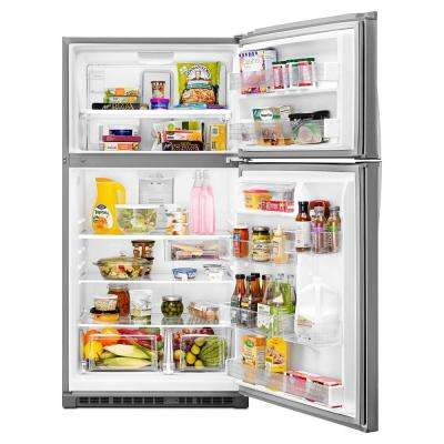 21.3 cu. ft. Top Freezer Refrigerator in Fingerprint Resistant Stainless Steel