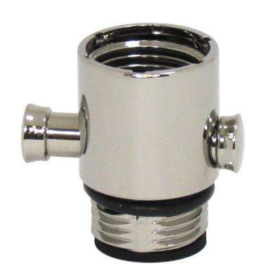 Pause/Trickle Adapter for Hand-Held Showers in Polished Nickel
