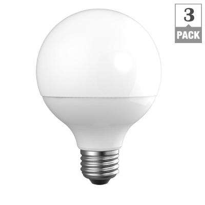60W Equivalent Daylight G25 Dimmable Frosted LED Light Bulb (3-Pack)