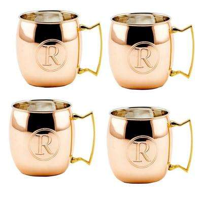 Monogram M 16 oz. Solid Copper Moscow Mule Mugs (Set of 4)