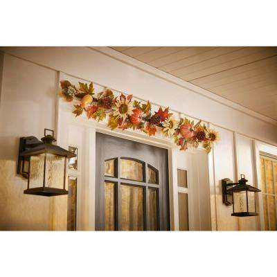 6 ft. Harvest Indoor Sunflower/Pumpkin Garland