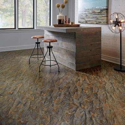 Textured Rock Grain Riverton 6 mm x 12 in. Width x 24 in. Length Vinyl Plank Flooring (16.02 sq.ft/case)
