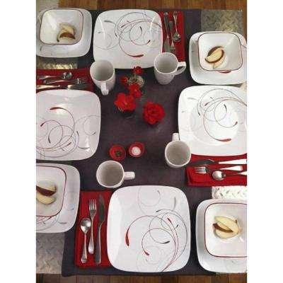 Square 8.5-In Lunch Plates Splendor (Set of 6)