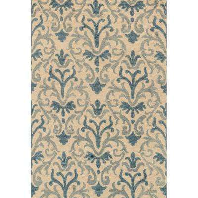 Taylor Lifestyle Collection Blue/Ivory 5 ft. x 7 ft. 6 in. Area Rug