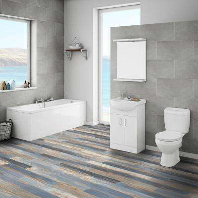 Double Box Floor and Wall Old Blue Sea 6 in. x 36 in. Vinyl Plank (60 sq.ft./Case)