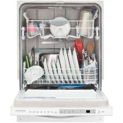 Top Control Built-In Dishwasher with OrbitClean Spray Arm in White, ENERGY STAR, 52 dBA