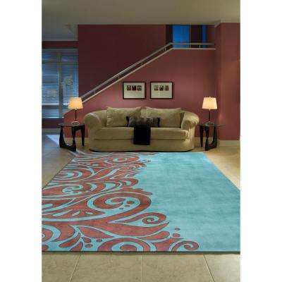 Contempo Turquoise 3 ft. x 8 ft. Indoor Runner Rug